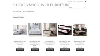 Cheap Vancouver Furniture